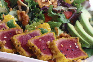 Ahi tuna Asian salad fresh grilled from Fresh To Order